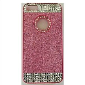 iPhone 7 Hard Plastic Pink Glitter Cell Phone Case